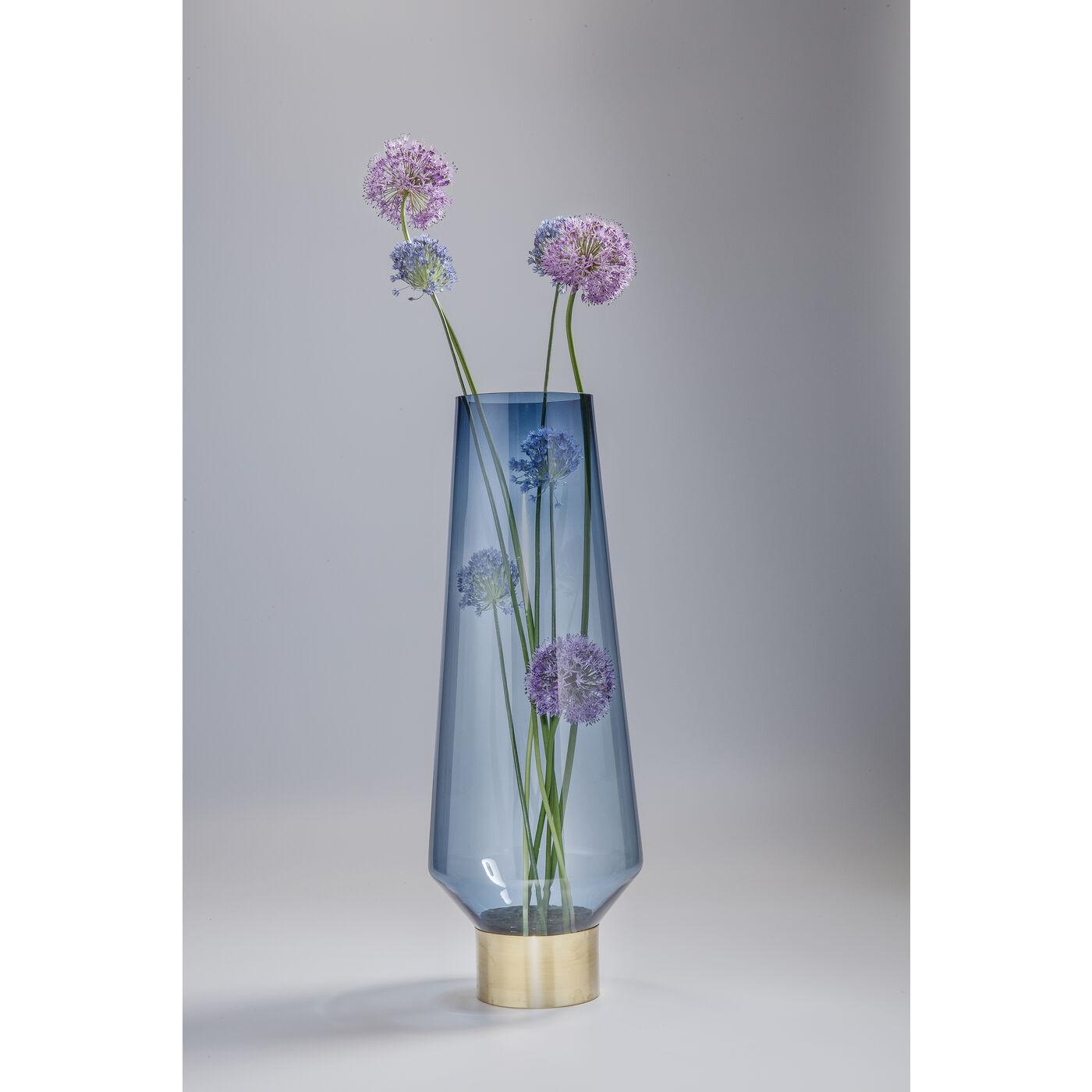 Vase Noble Ring Blau 60cm