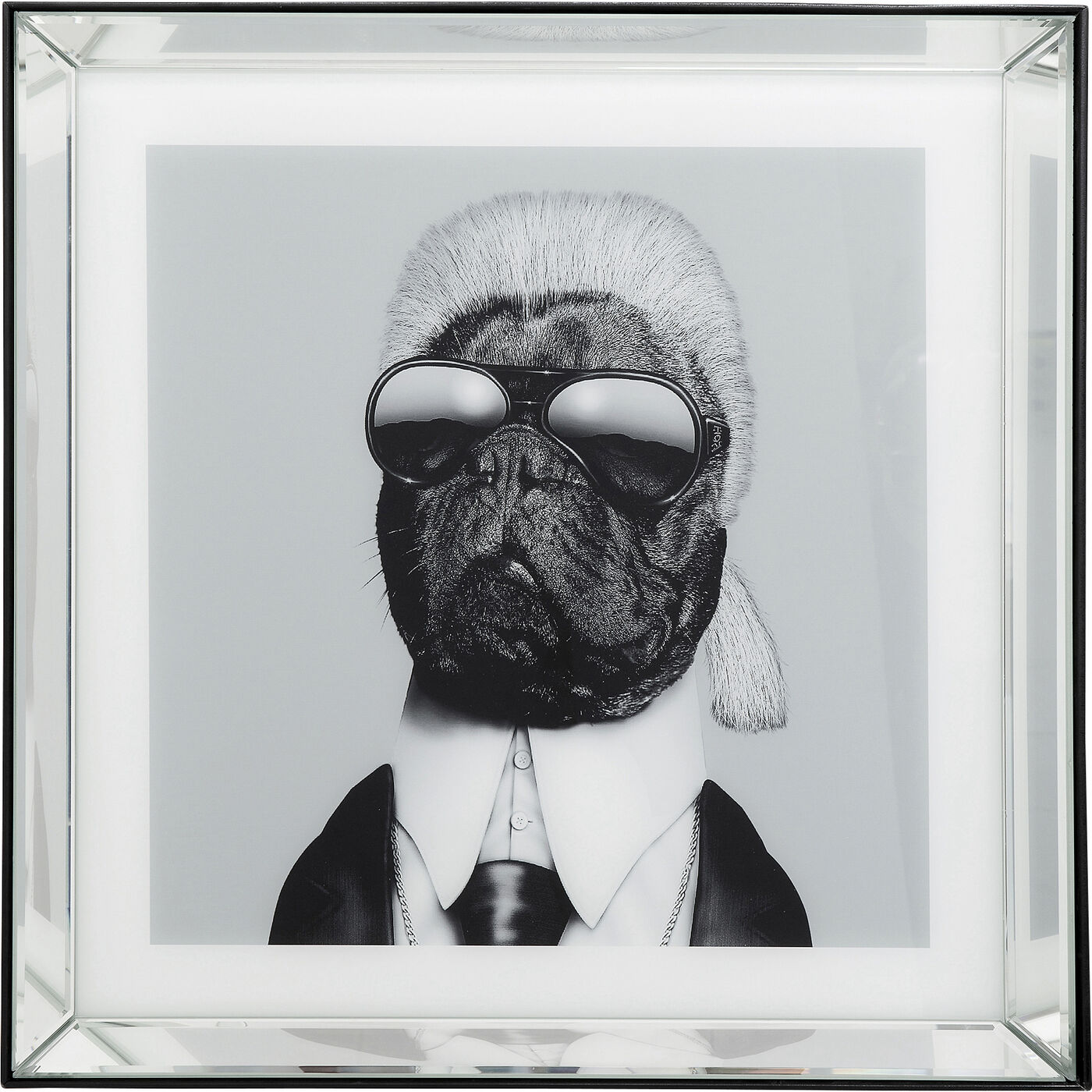 Bild Frame Mirror Designer Dog 60x60cm