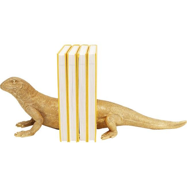 Buchstütze Lizard (2/Set) Eidechse Gold