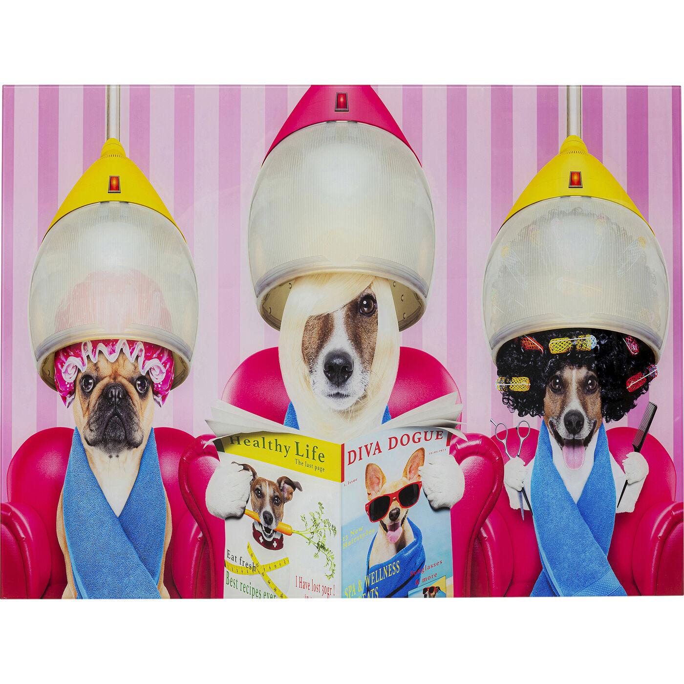 Bild Glas Dogs Day Salon 80x60