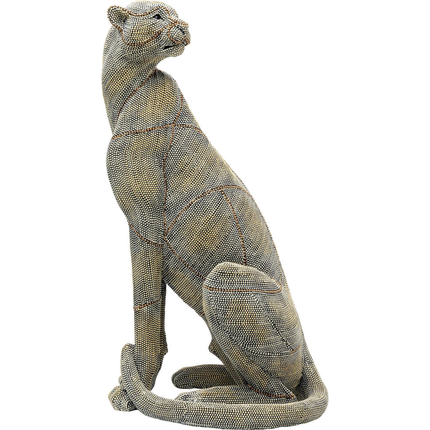 """*NEU*: Deko-Figur """"Sitting Leopard"""" aus Kunststein, klein (Kopie)"""