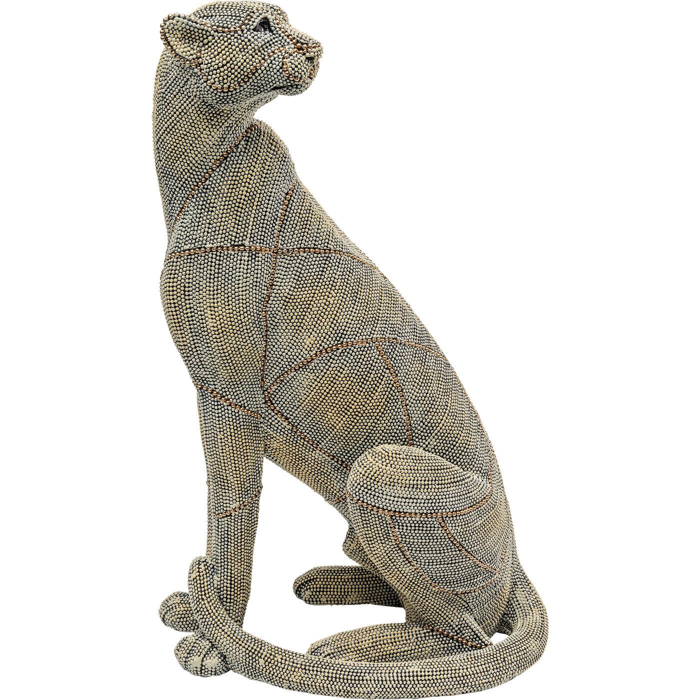 """*NEU*: Deko-Figur """"Sitting Leopard"""" aus Kunststein, grau, klein"""