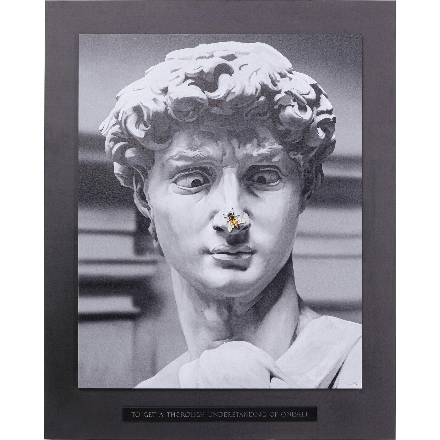 Leinwandbild Statue 100x125