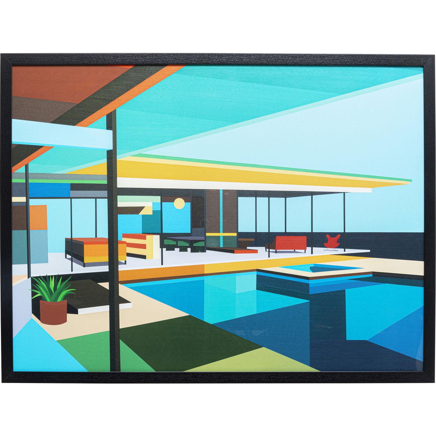 Gerahmtes Bild Modern Architecture 80x100