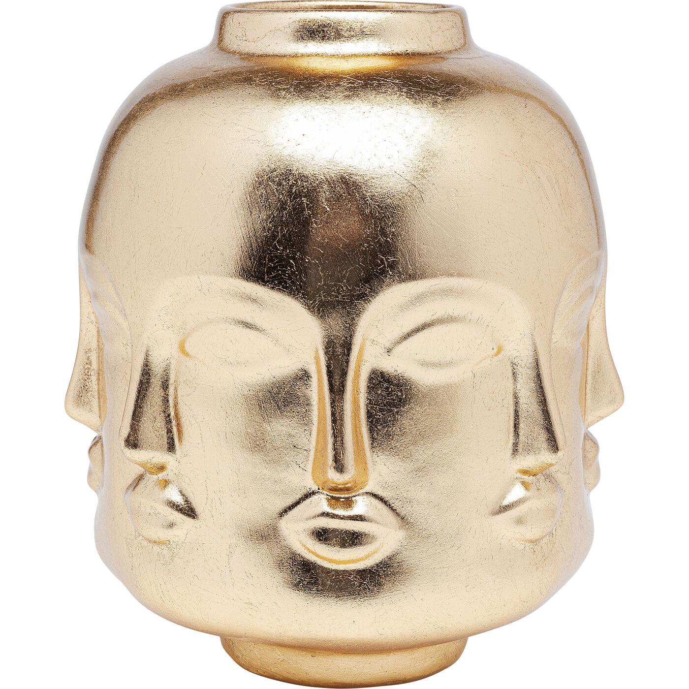 Deko Vase Jasper Gold 19