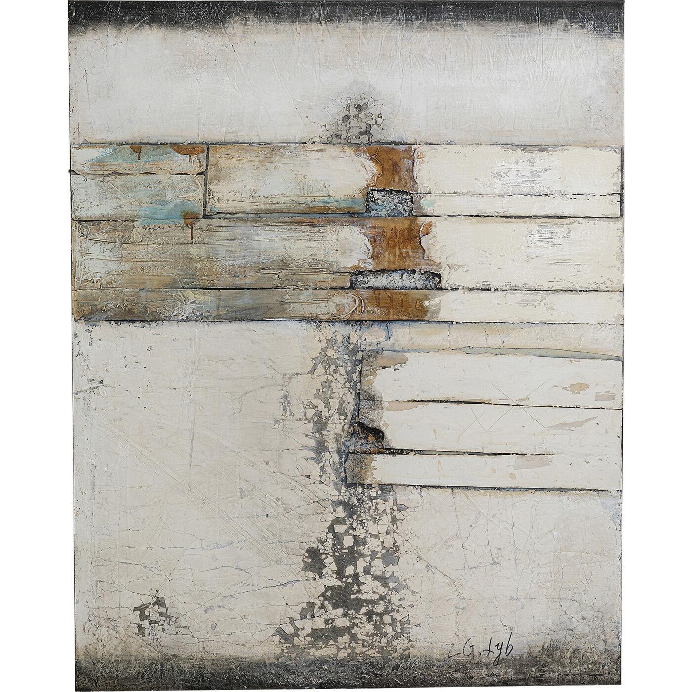 Acrylbild Abstract Grey Line Two 150x120cm