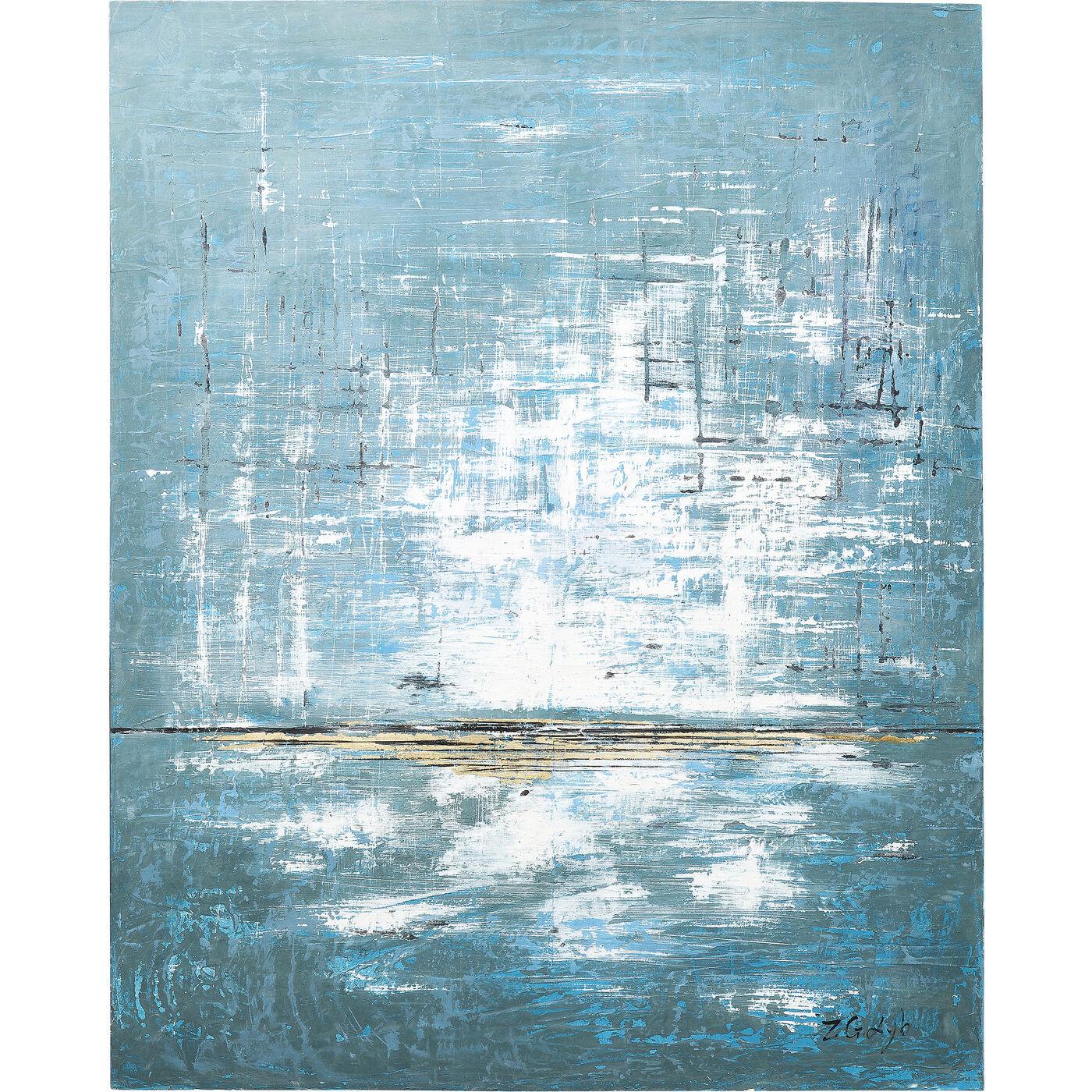 Acrylbild Abstract Blue One 150x120