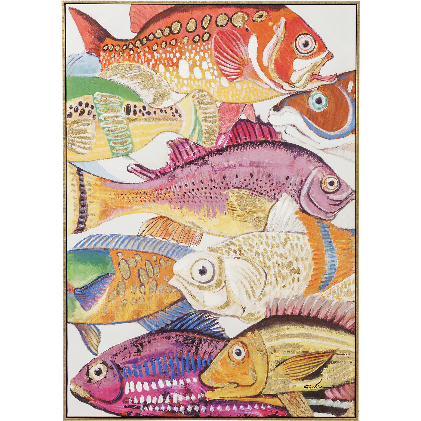 Bild Touched Fish Meeting One 100x75cm