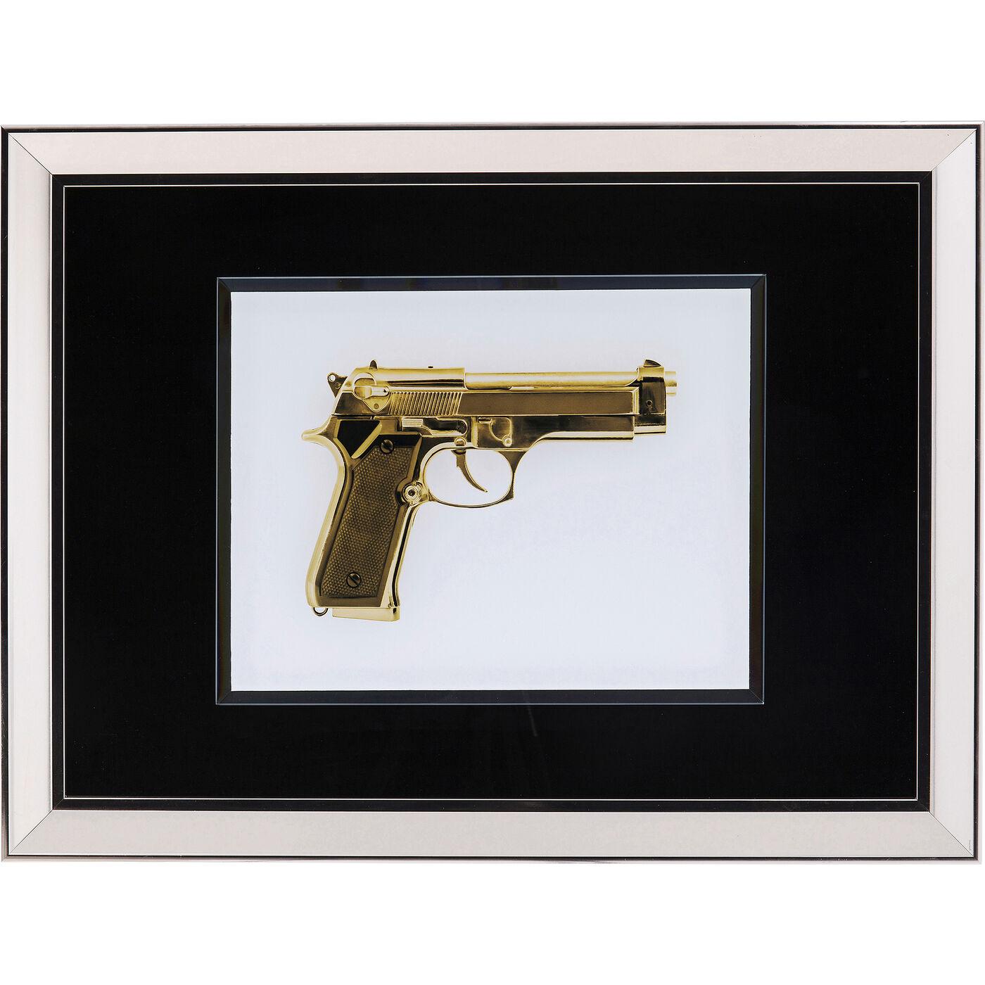 Bild Frame Mirror Gun Gold 80x60cm