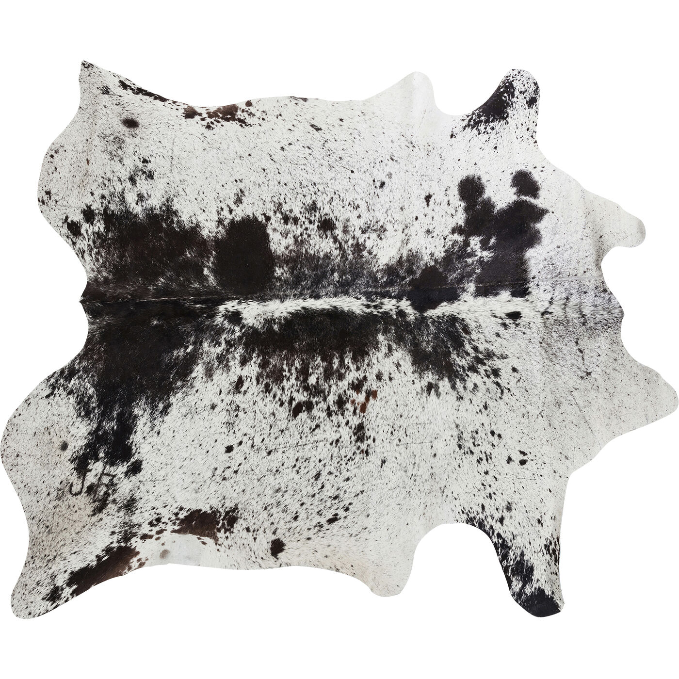 Teppich Hide Schwarz-Weiß