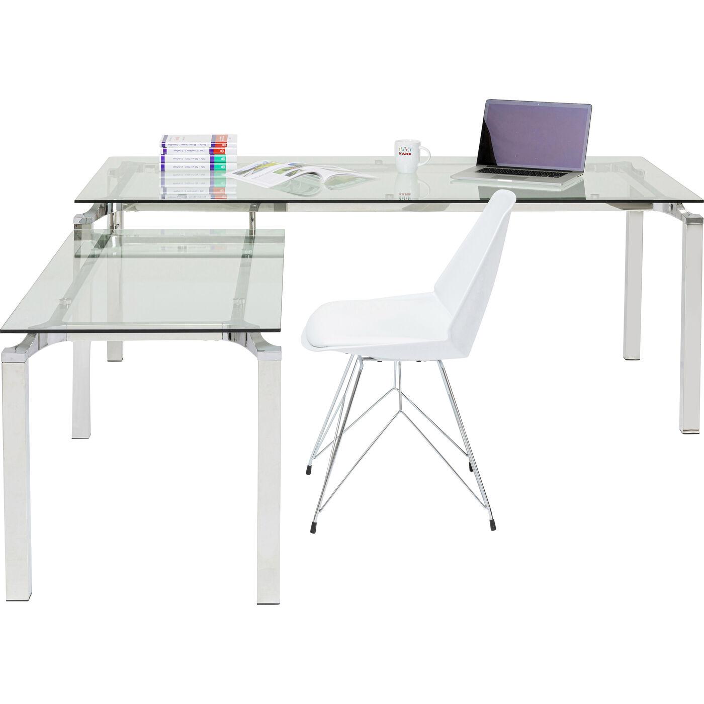 Schreibtisch Lorenco Chrom Winkelcombi 210x180cm