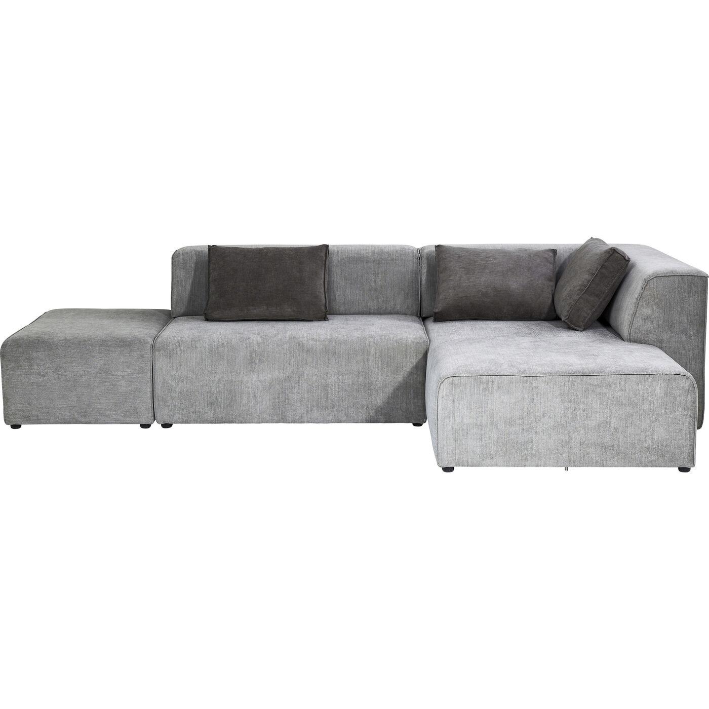 Sofa Infinity Ottomane Grau Rechts