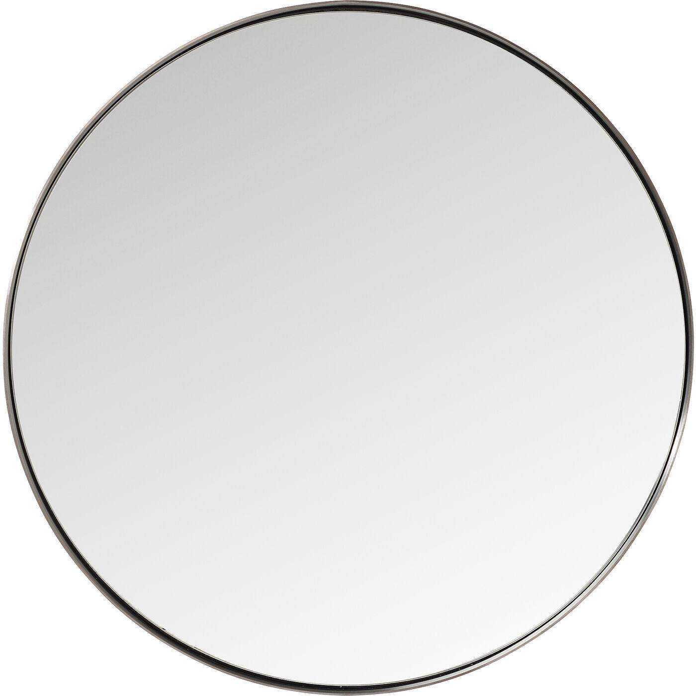 Spiegel Curve Round Steel Nature Ø100cm