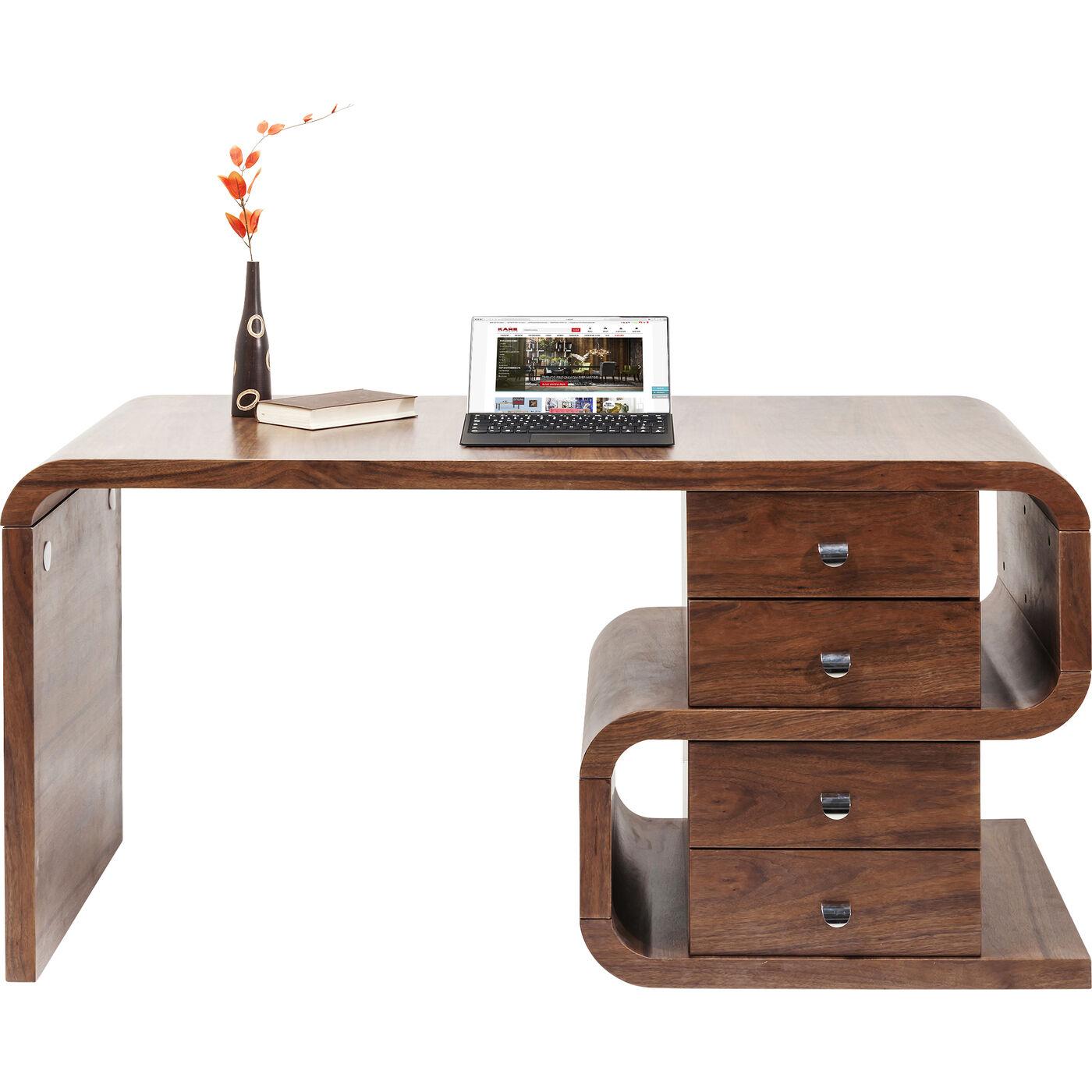 Schreibtisch Soft Snake Walnut 150x70cm