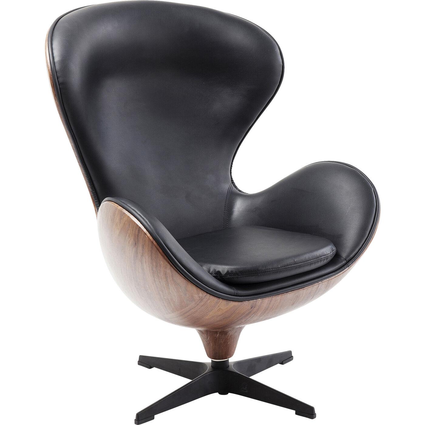 Drehsessel Lounge Black Walnut