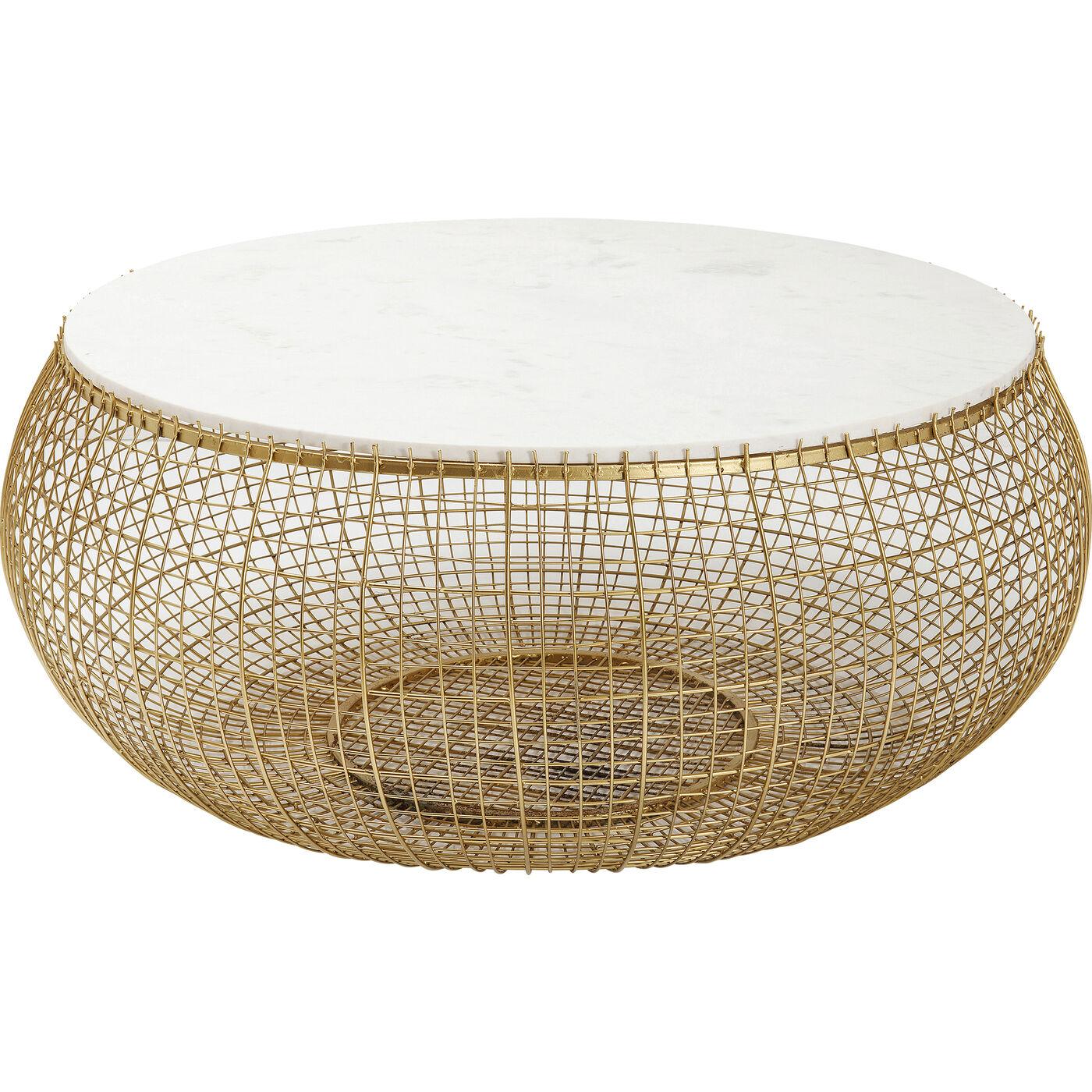 Couchtisch Cesta Marmor Gold Ø100cm