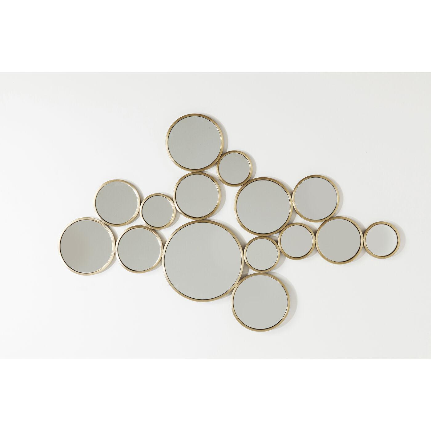 Spiegel Bubbles Messing 93x138cm