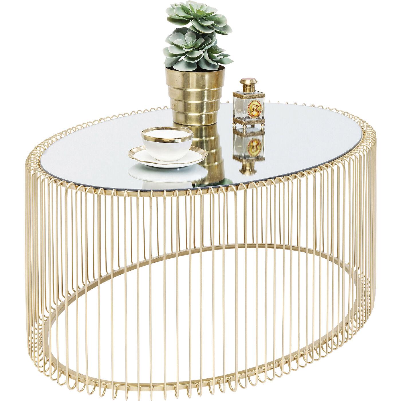 Couchtisch Wire Uno Brass 60x90cm