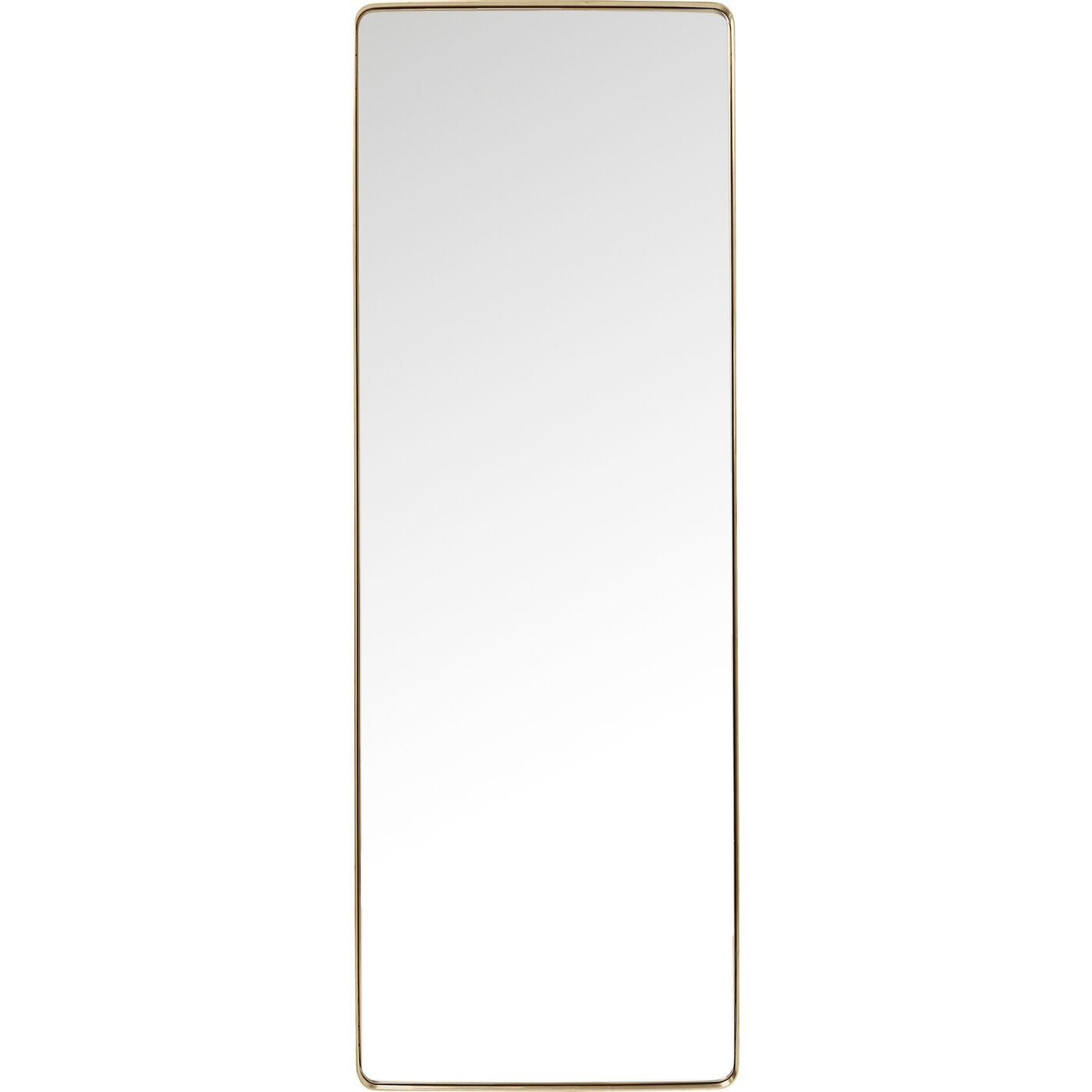 Spiegel Curve MO Rectangular Brass 200x70cm