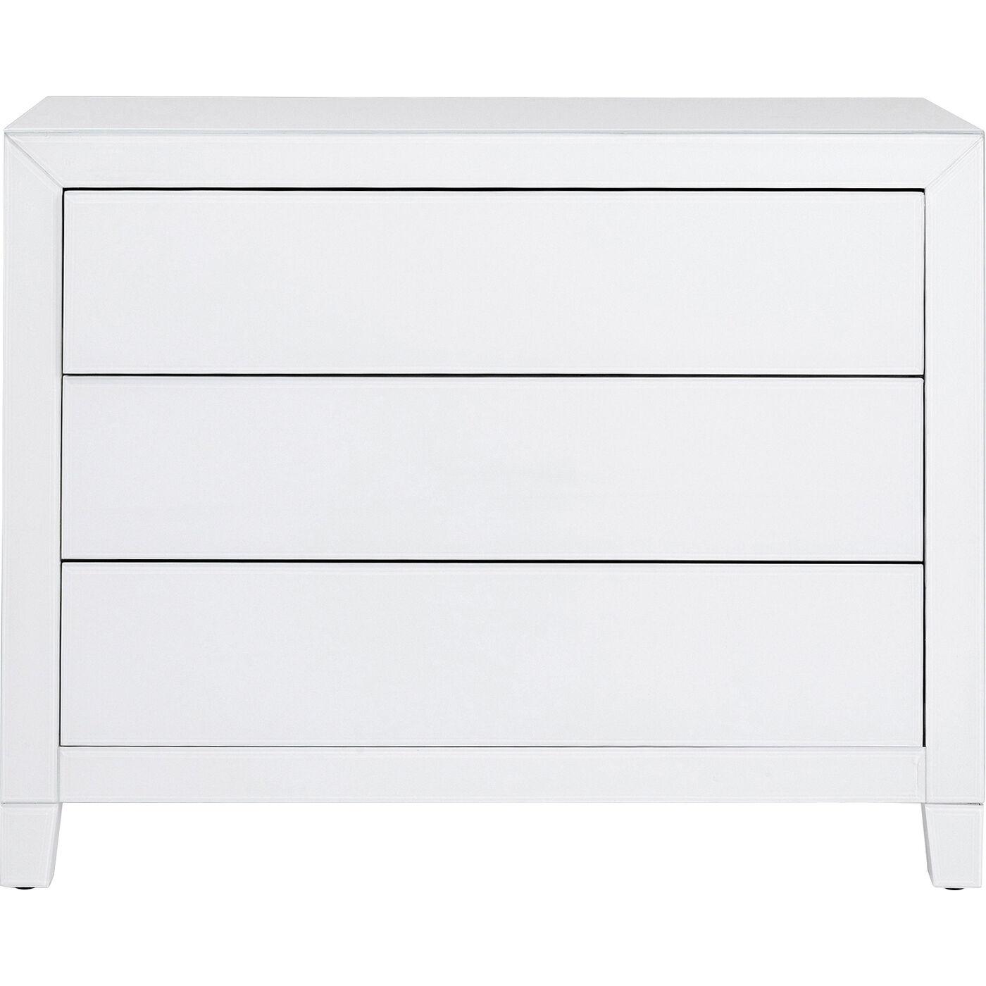 Kommode Luxury Push 3 Schübe Weiß