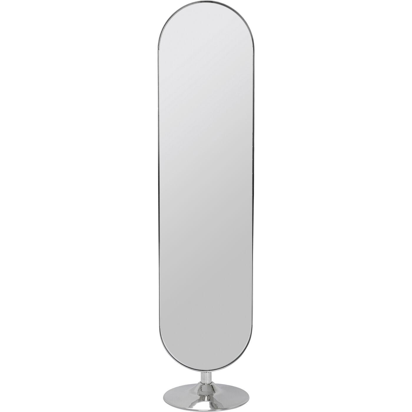 Standspiegel Curve Chrom Look 170x40
