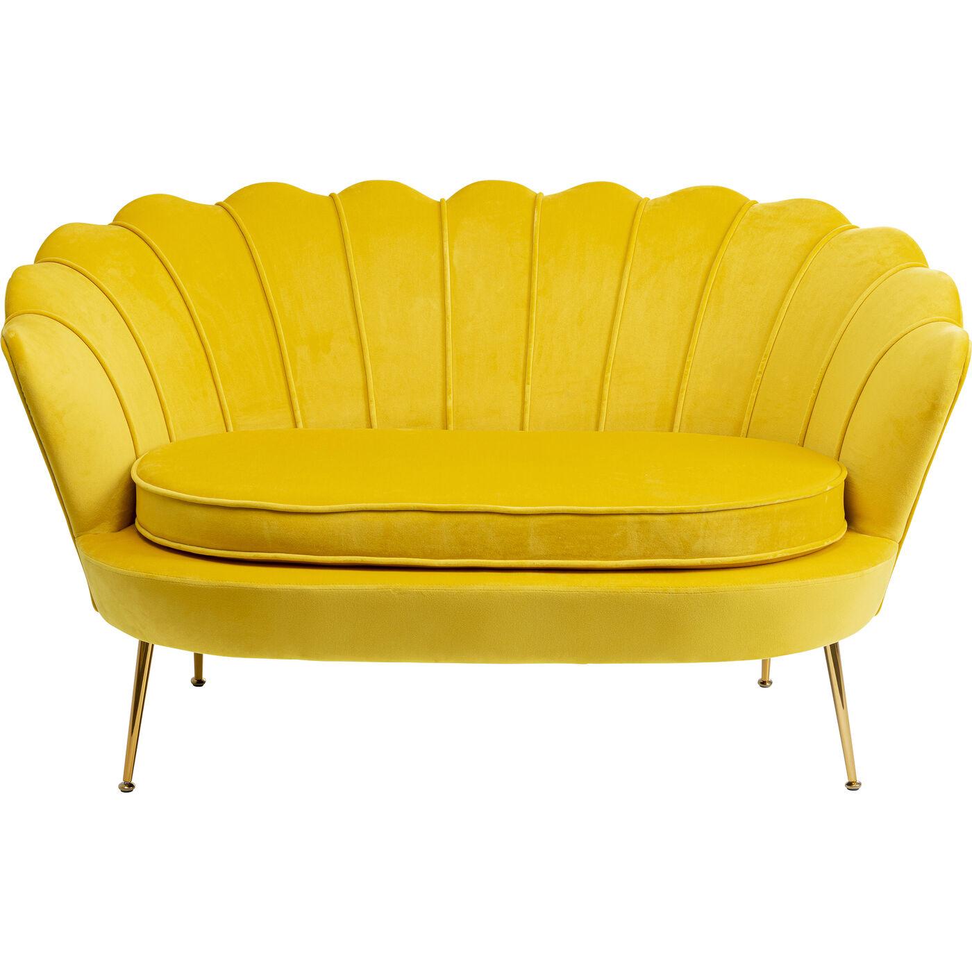 Sofa Water Lily 2-Sitzer Gelb 132cm