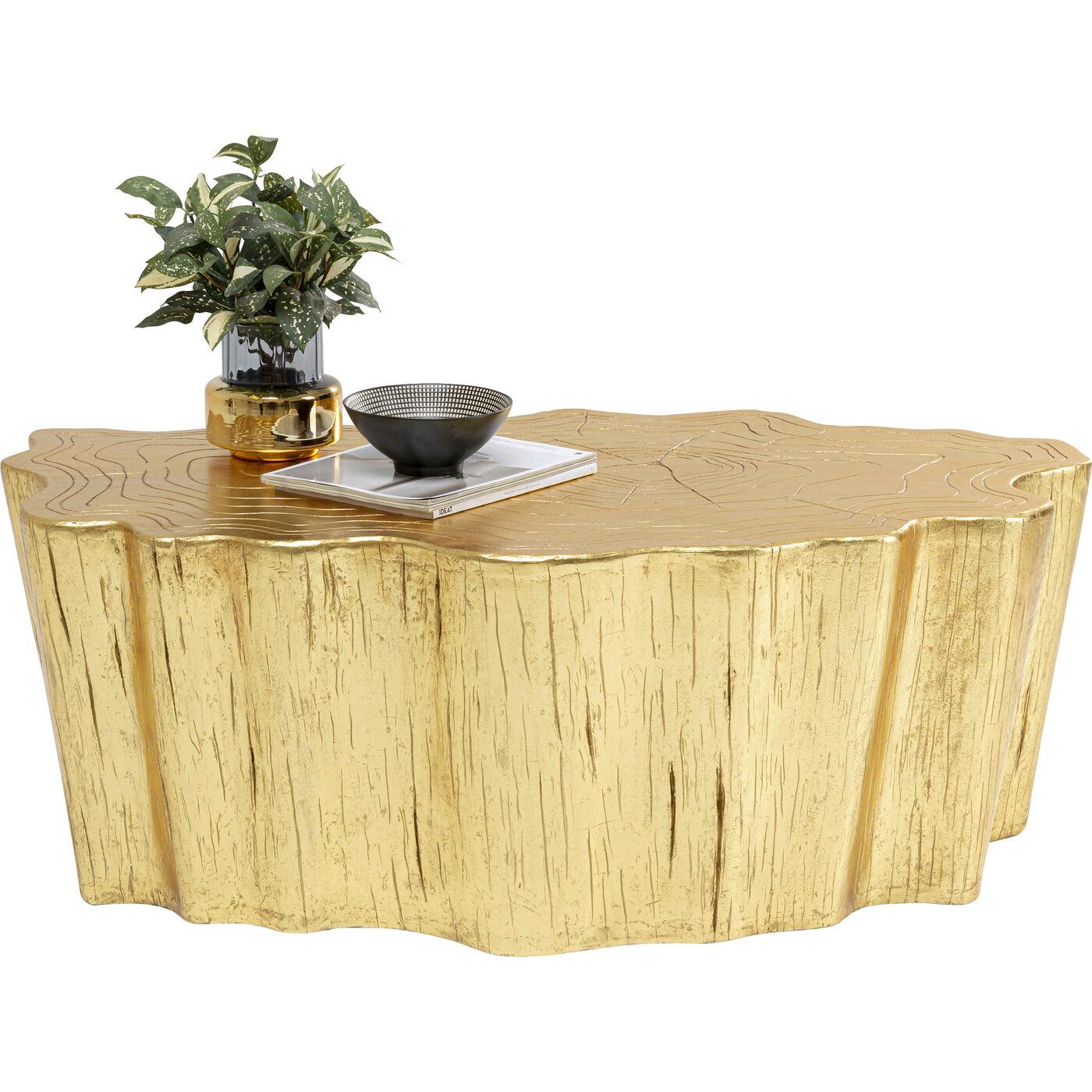 Couchtisch Tree Stump Gold 119x68cm