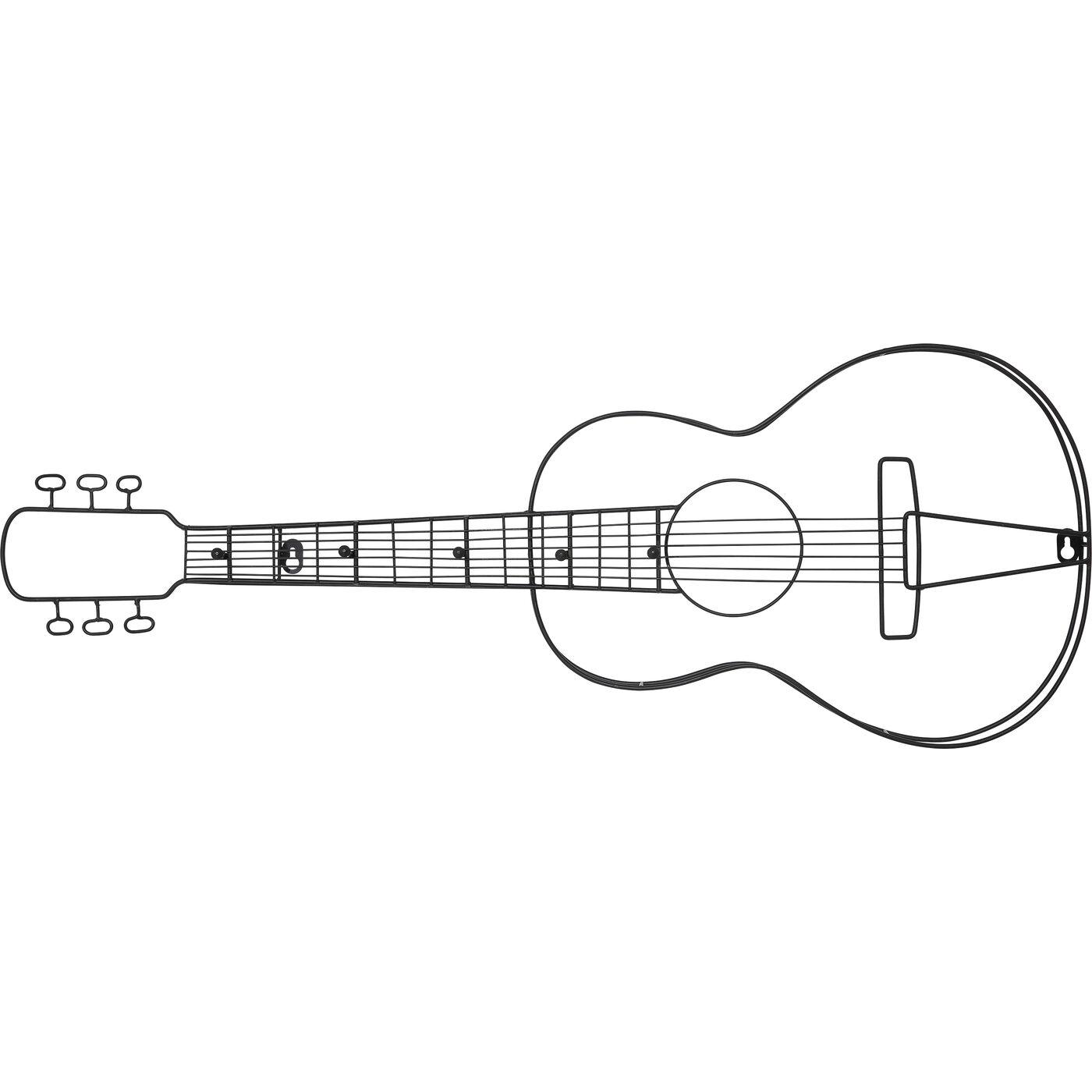 Wandgarderobe Guitar 81cm