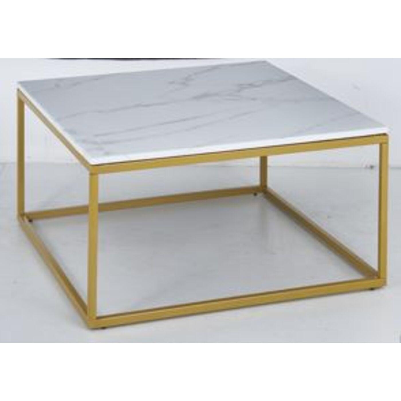 Couchtisch Key West Marble Gold 90x90cm