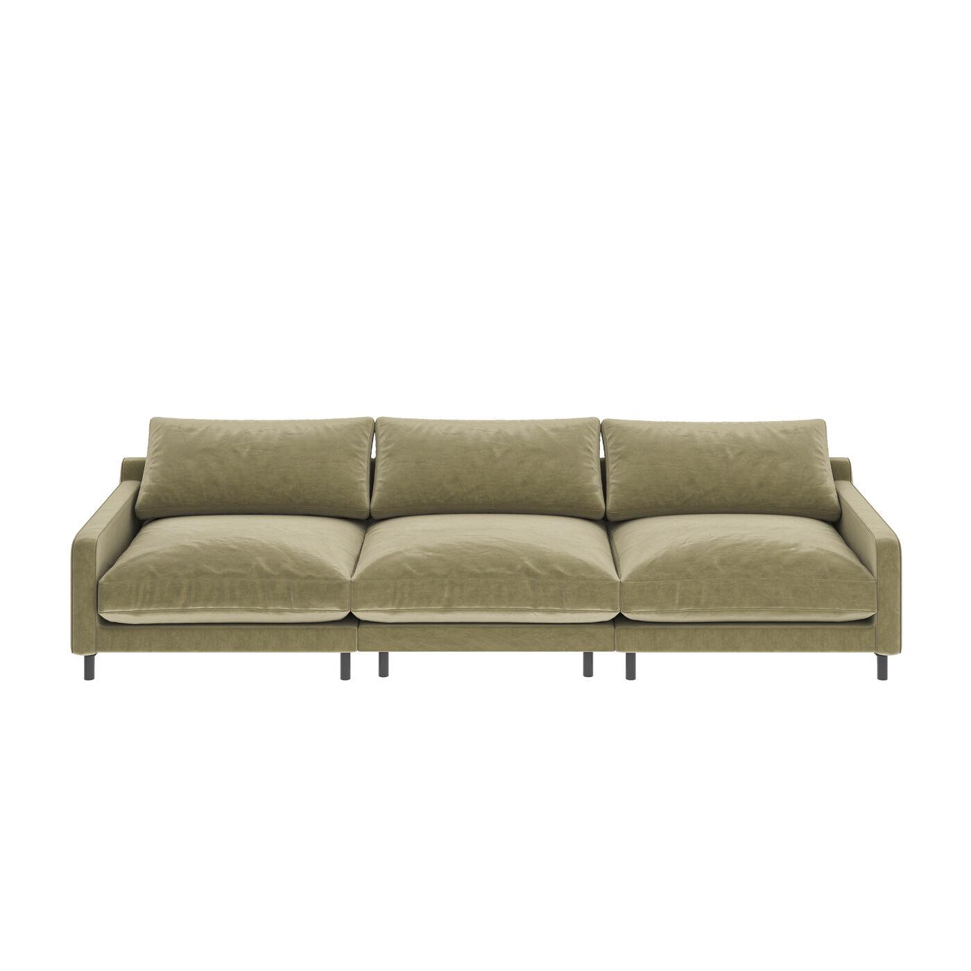 Sofa Discovery 3-Sitzer Oliv