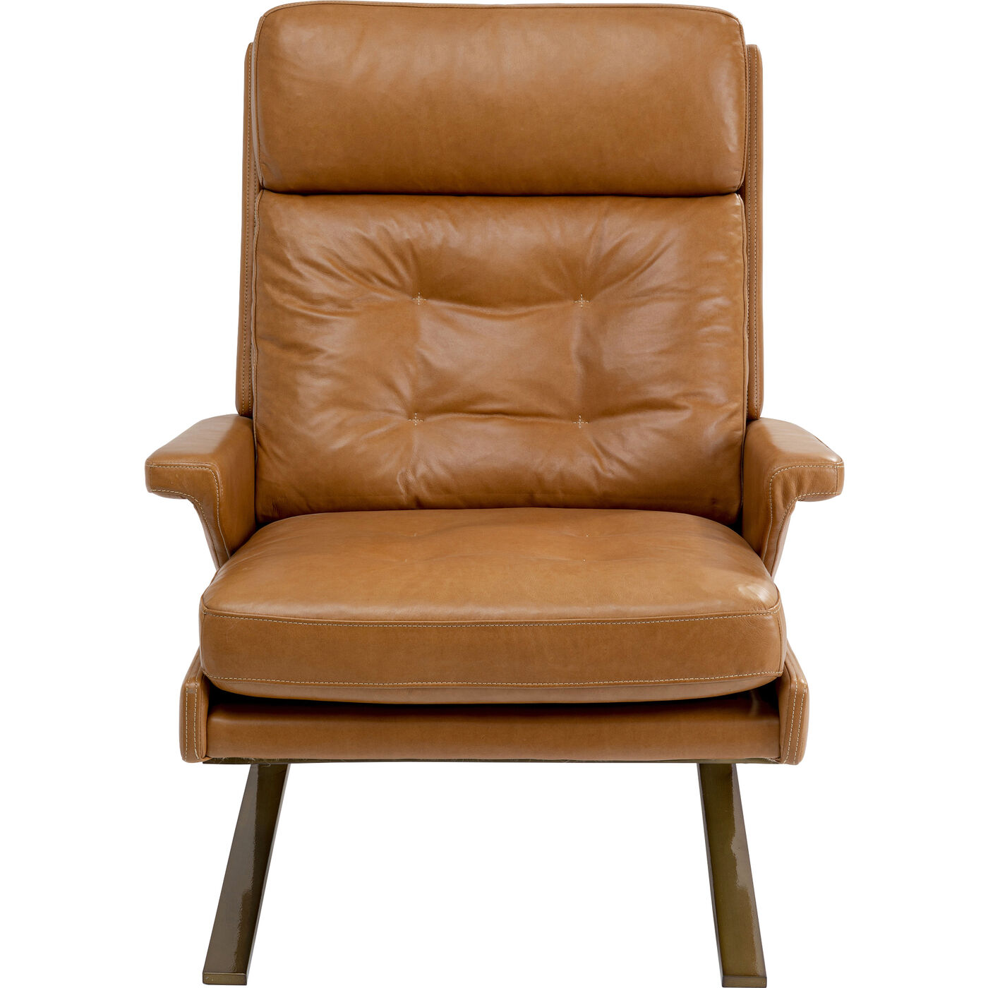Sessel mit Hocker Breno Braun